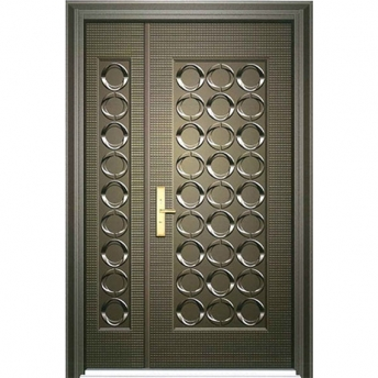 Embossed steel door
